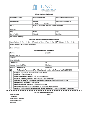 medical referral form template