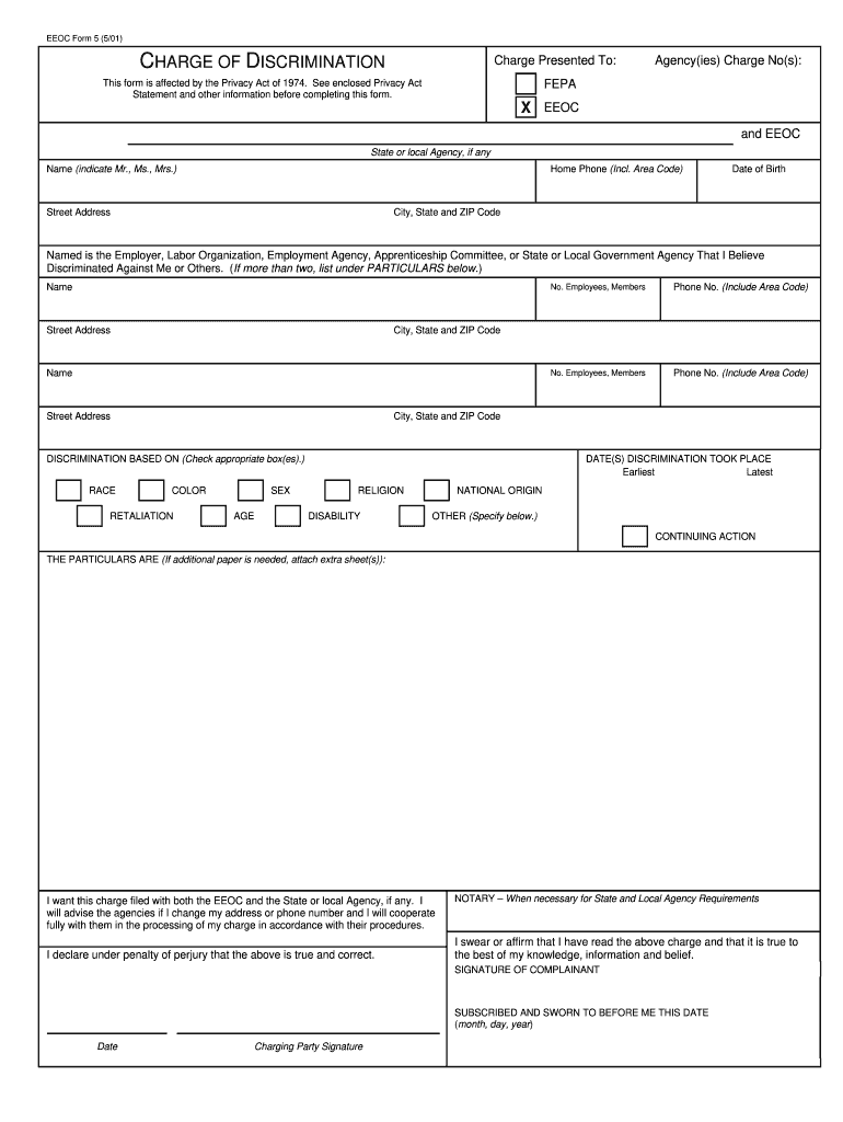 Eeoc Charge Form - Fill Online, Printable, Fillable, Blank