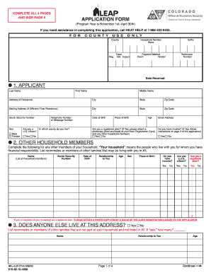 Leap Application Form - Fill Online, Printable, Fillable, Blank ...