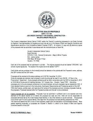 Sample contract only - Houston Independent School District - houstonisd