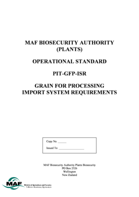 OPERATIONAL STANDARD PIT-GFP-ISR GRAIN FOR PROCESSING IMPORT SYSTEM REQUIREMENTS - pflanzengesundheit jki bund