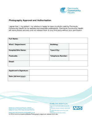 Sign A Photography Approval Form   Peninsula Community Health