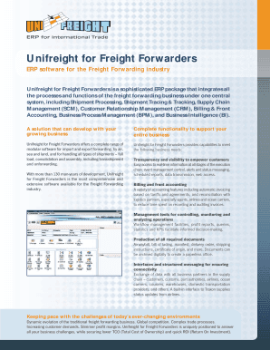 Fillable freight forwarding software - Edit Online