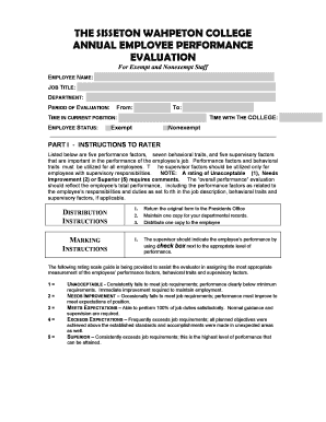 Annual Employee Evaluation Form - Sisseton Wahpeton College