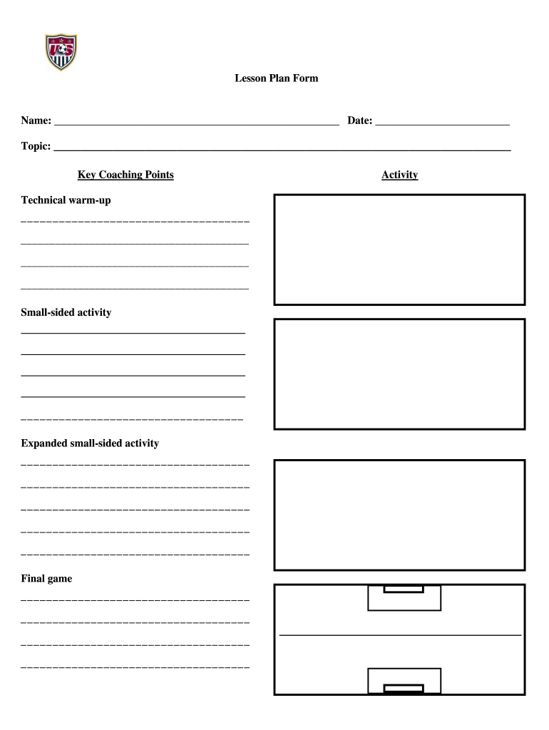 Soccer Practice Plan Template Fill Online Printable Fillable Blank Pdffiller