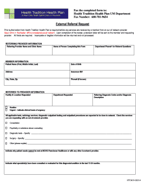 Sample letter requesting financial assistance for surgery to referral request form health tradition health plan altavistaventures Choice Image