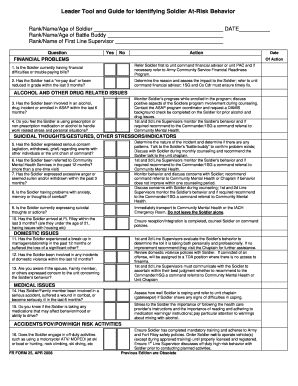 risk assessment form army - Edit, Print & Download Fillable ...