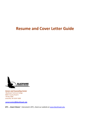 Resume and Cover Letter Guide - Blackhawk Technical