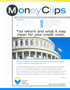 credit union summer newsletter edit fill out print download