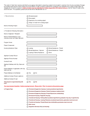 template for letter of intent form