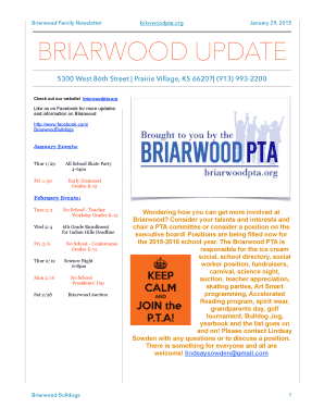 Briarwood Family Newsletter - Teachers - Shawnee Mission School ...