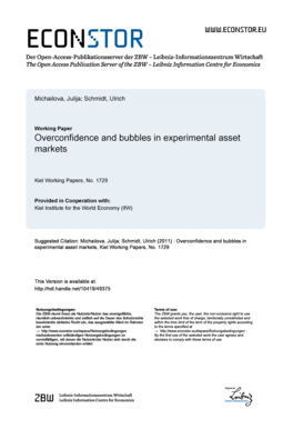 Overconfidence and Bubbles in Experimental Asset bb - EconStor - econstor
