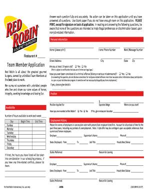 Apply Red Robin