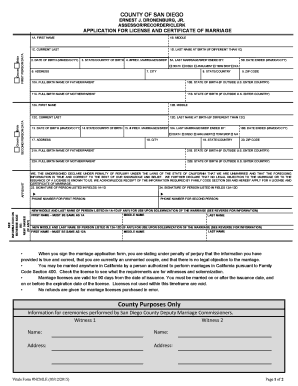 marriage license record san diego