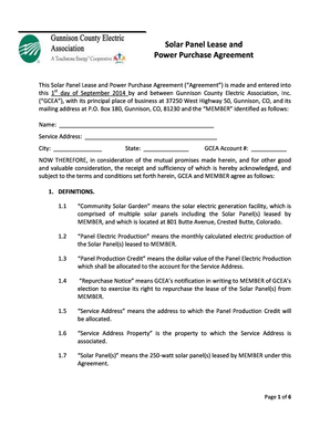Solar Panel Lease and Power Purchase Agreement - Clean 00347873DOCX 00347873DOCX 1