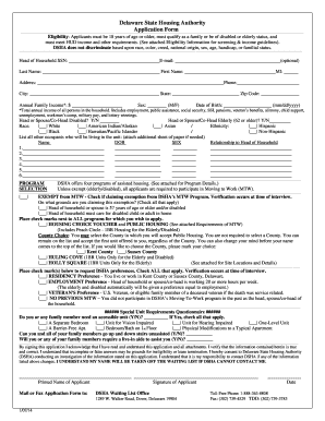 Section 8 Application Form - Delaware Disability Hub Fill