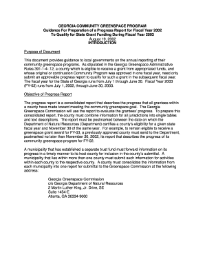 Progress Report Template - Georgia Department of Natural Resources - www1 gadnr