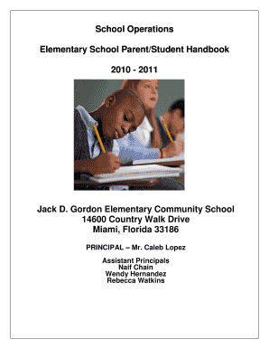 Fillable Online Miami Dade Bcountyb Public Schools Jack D Bgordonb Elementary Fax Email Print Pdffiller