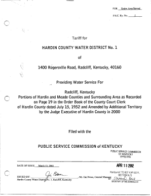 hardin county water district