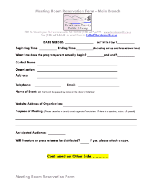 Fillable online henderson lib nc meeting room reservation form rate this form thecheapjerseys Choice Image