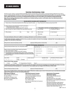 delta dental insurance form