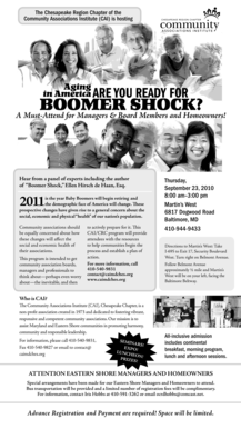 Boomer Shock? - Chesapeake Region Chapter Community ... - caimdches