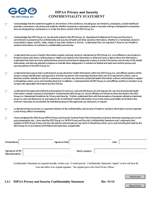 Fillable Online CONFIDENTIALITY STATEMENT.doc. LLC1 Form ...