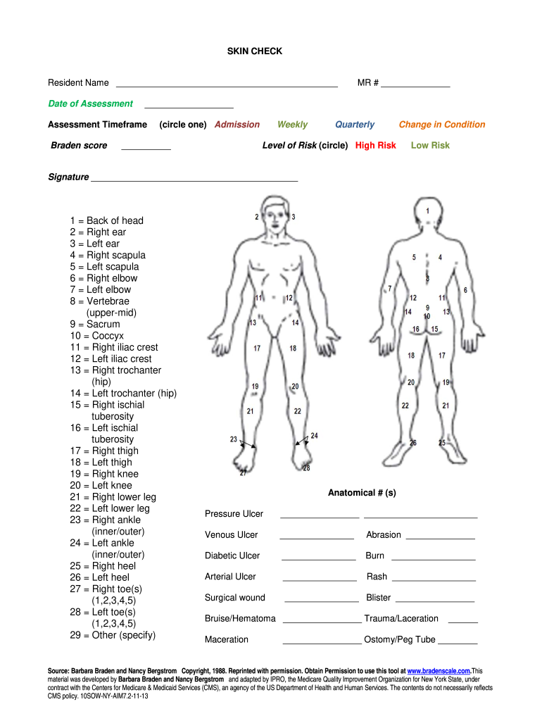 Body Check Form - Fill Online, Printable, Fillable, Blank ...