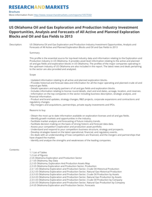 US Oklahoma Oil and Gas Exploration and Production Industry Investment