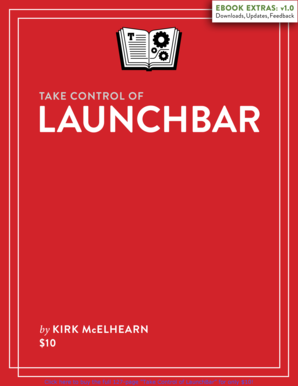 Take Control of LaunchBar (1.0) SAMPLE. Find out why why so many Mac users love LaunchBar, and learn the five LaunchBar superpowers that make it easy to access the files, apps, and data stored on your Mac - and more. This ebook covers