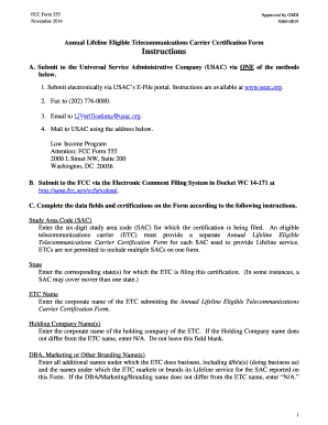 FCC Form 555 - Filing Instructions. DHS letterhead template