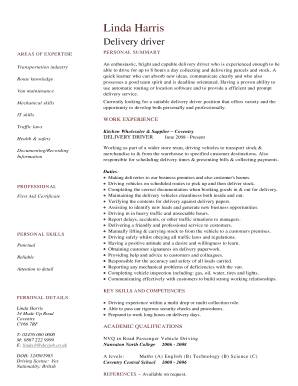 Directgov cv template fill out online forms templates download in transportation industry yelopaper Images
