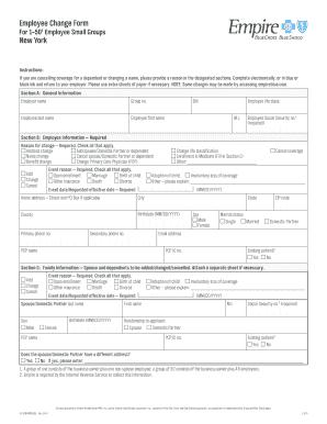 Employee Change Form New York - EmpireBlue