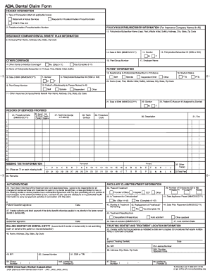 Fillable Principal Dental Claim Form Form Templates To Create In Pdf