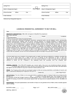 Fillable Online 8-1/2 x 14 Legal-Size Form - Louisiana Real Estate ...