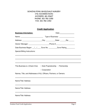 Credit application.pdf - Deakins Pond Wholesale Nursery