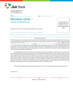 Seller Mandate Letter Sample Fill Online Printable Fillable Blank Pdffiller