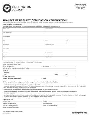 23 Printable College Transcript Request Form Template Fillable