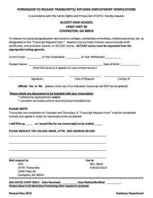 Fillable Online newtoncountyschools STUDENT RECORDS REQUEST FORM ...