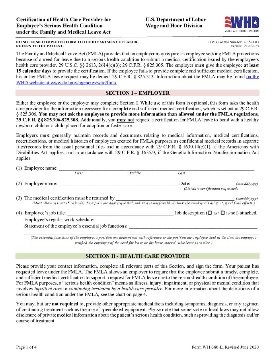 fmla forms 2020-2021