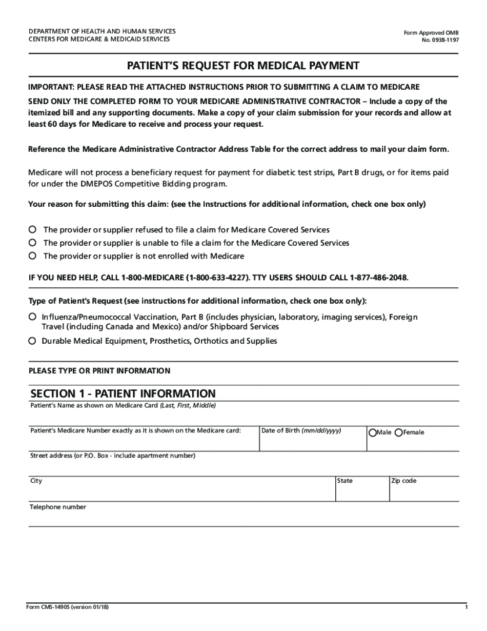 patient claim form