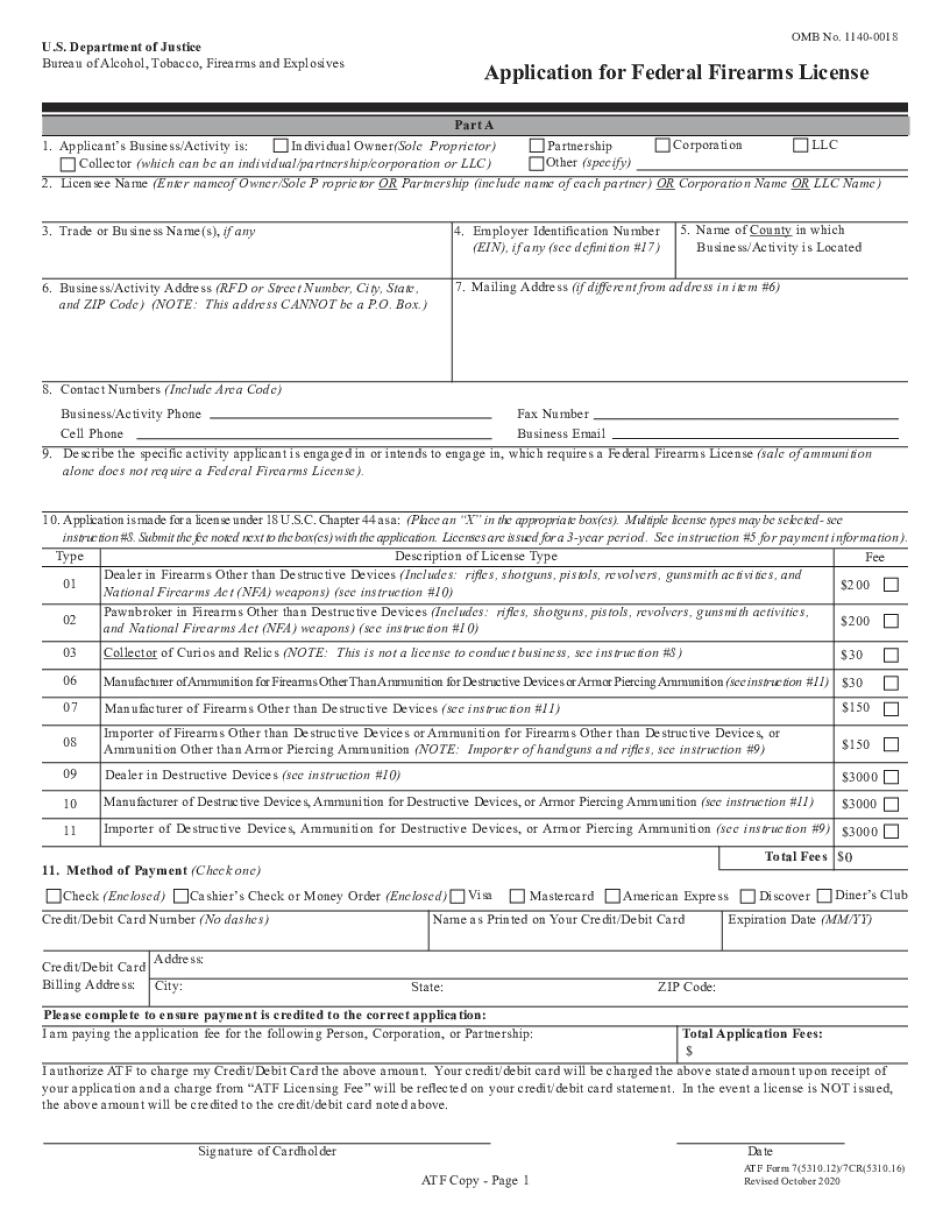 ATF 5310.12 2020-2021 Form