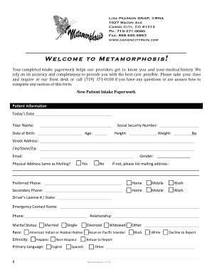 free new patient medical forms