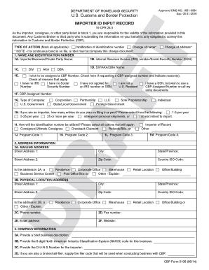 Fillable Online cbp CBP Form 5106 - US Customs and Border ...