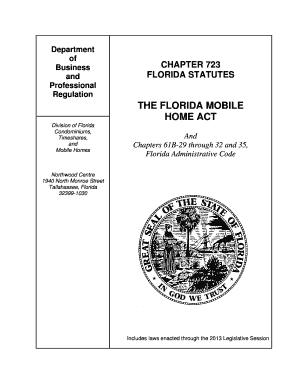 Florida Chapter 723 Statutes