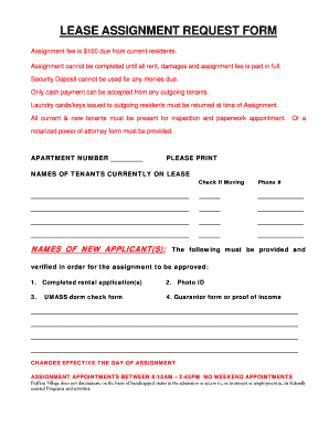 assignment lease