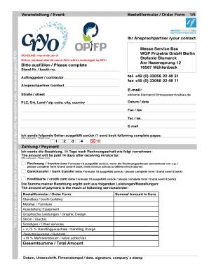Bestellformular Veranstaltung - Fill Online, Printable, Fillable ...