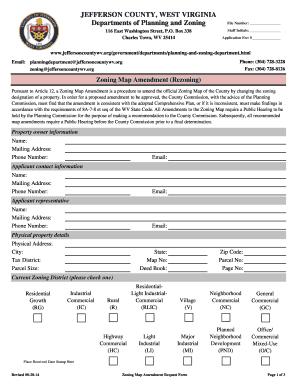 Zoning Map Amendment Request - Jefferson County Commission