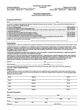 Volunteer Application (pdf) - Girl Scouts Fill Online
