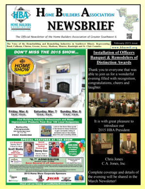 The Official Newsletter of the Home Builders Association of Greater Southwest IL - hbaswil